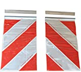 ORAFOL 2 x Warning flag, 250 x 400 mm Tail lift, Lifting mark left + right