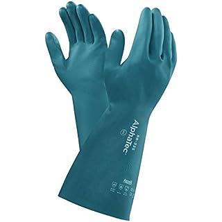 Ansell AlphaTec 58-335 Nitril Handschuhe, Chemikalien- und Flüssigkeitsschutz, Grün, Größe 8 (12 Paar pro Beutel)