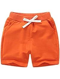 c9c95c5d5 ARAUS Baby Elastic Waist Drawstring Shorts Toddler Cotton Summer Casual  Short Pants Clothes for Boys Girls