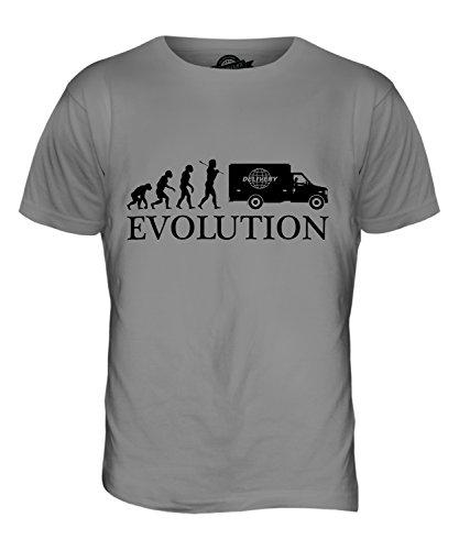 CandyMix Lieferwagen Evolution Des Menschen Herren T Shirt Hellgrau