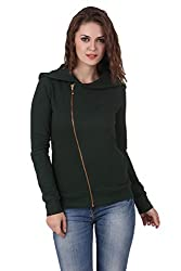 TEXCO WINTER COTTON POLYSTER FLEECE HOODED GREEN STYLEST JACKET (Small)