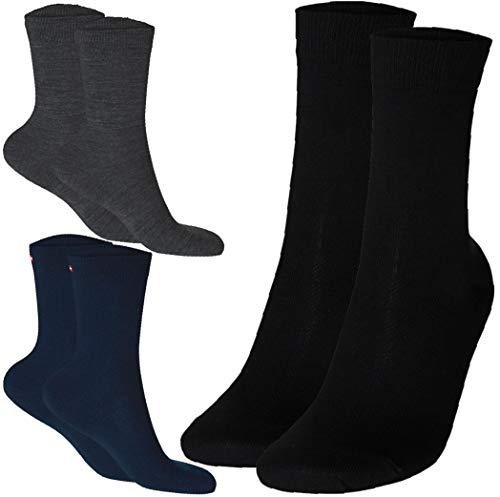 Chaussettes en Laine Merino (Noir - 1 Paire, EU 39-42)