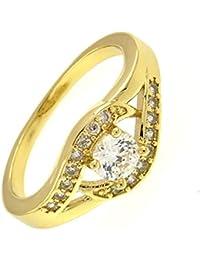 Mes-Bijoux-Bracelets Bague d anniversaire Oxyde de Zirconium Dorée Or Jaune  750 000 18ct Cadeau Femme Bijou Fantaisie Haut de… e55b4b5c8b43