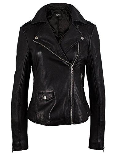 TIGHA Damen Lederjacke Vintage Black ALBA Neue Kollektion XL