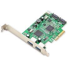 Syba - Tarjeta controladora PCI-Express 2.0 (USB 3.0, SATA III, placas de perfil estándar y bajo)