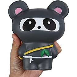 TMEOG 1Pcs Kawaii Ninja Panda Ninja Fox Dulce perfumado Slow Rising Squishy para Kid Toy, Lovely Toy, Stress Relief Toy, Decoraciones Juguete Regalo Diversión (D)