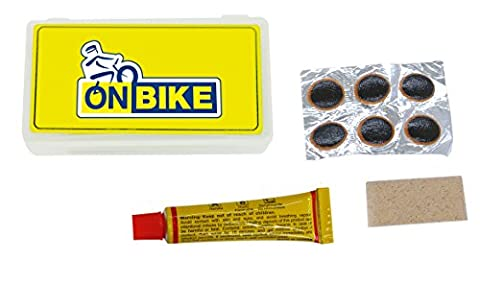 ON BIKE Kit de réparation de Tube Putty 8ML complet. Pezze Absorbents Bike