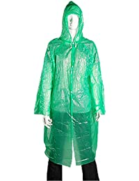 Vert Jetable Urgence Plastique Imperméable Pluie Manteau Adulte