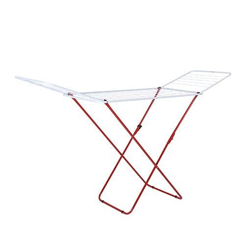 Axentia 251555 Flügelwäschetrockner, Pulverbeschichtet Stahlrohr, Farbig Sortiert, 180 x 55 x 92 cm