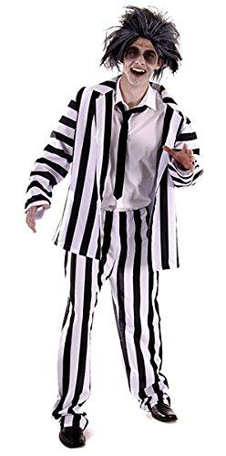 lustig, 80er Film, verrückte Geist Anzug Kostüm. Eine Größe Kostüm, aber in der Regel passt Männer klein, mittel oder groß. Perfekt für einen Junggesellenabschied oder Halloween (Perücken Versand Am Selben Tag)
