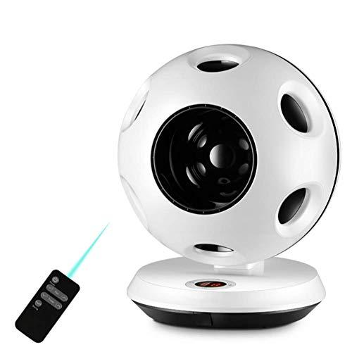 Preisvergleich Produktbild NWYJR Bladeless Fan Elektrische Remote-Tisch-Kugel Tragbaren Schreibtisch Ventilator Elektrische Luftströmung Kühlung Kühlen Ventilator,White