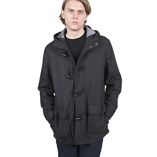 Men's Carter & Jones Grey Duffle Coat With Hood S To 3X Grau
