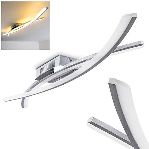 LED Deckenlampe Perano - Deckenleuchte Wohnzimmer im extravaganten Design - LED Lampe warmweißes Licht 3000 Kelvin - 1600 Lumen - mit 2 Lampenschirmen aus Metall und halbtransparentem Kunststoff - Design, Essecke