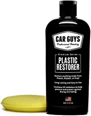 CarGuys Plastic Restorer - The Ultimate Solution for Bringing Rubber, Vinyl and Plastic Back to Life! - 8 oz K