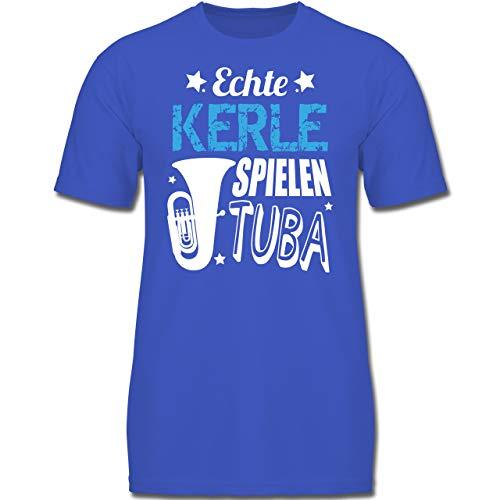 Up to Date Kind - Echte Kerle Spielen Tuba - 140 (9/11 Jahre) - Royalblau - F130K - Jungen Kinder T-Shirt