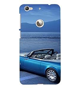 EPICCASE Blue Car Mobile Back Case Cover For LeEco Le 1s Eco (Designer Case)