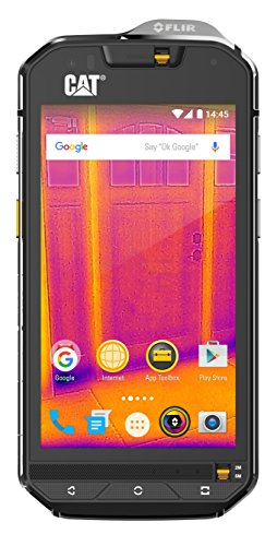 Cat phones S60 Rugged Single-SIM Smartphone (11,94 cm (4,7 Zoll) HD-Display, 32GB interner Speicher, Android Marshmallow, 3800 mAh Akku) schwarz S60 Smartphone