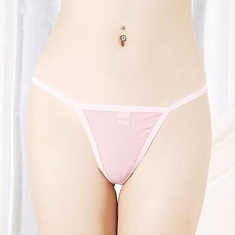 RangYR*Garza biancheria intima sexy femmina stringa trasparente tentazione temperamento e intimo di forniture per adulti low-rise terrazza , sono lordo codice , affascinante rosa di curva