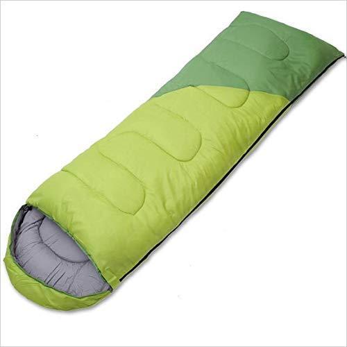 CATRP Saco De Dormir De Algodón para Adultos sobre 4 Estaciones Saco De Dormir De Costura Universal Viaje De Descanso para El Almuerzo Saco De Dormir De Interior (Color : Verde)