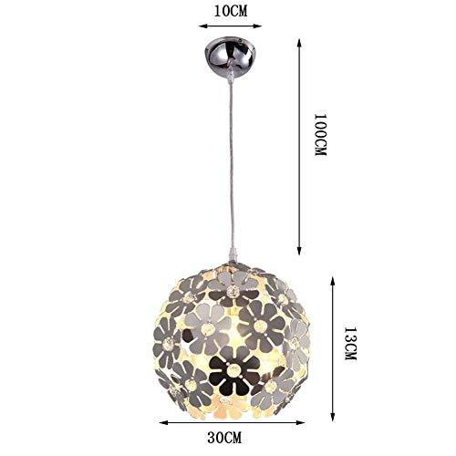 G-D Deckenleuchte Moderne Zeitgenössische Blume Ball Design Kreative Kronleuchter Aluminium Kronleuchter Dekorative Kronleuchter Kristall Lampe Tischleuchte Silber E27 30 cm