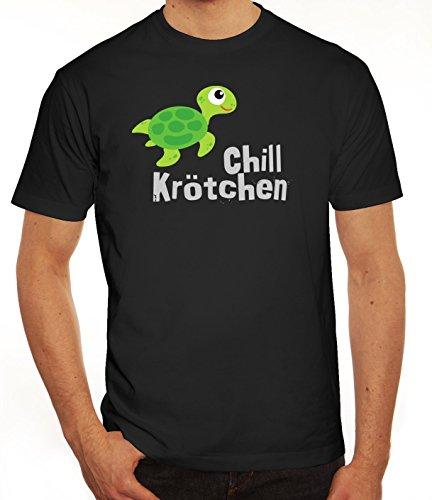 Turtle Schildkröte Herren T-Shirt mit Chillkrötchen 1 Motiv von ShirtStreet Schwarz