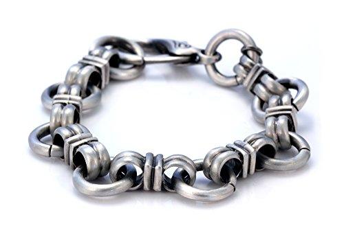 Fatto a mano braccialetto donna Bico Construct in argento rivestito in stagno (FB42), Placcato argento, cod. FB42 24cm