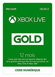 Abonnement Xbox Live Gold 12 mois | Xbox Live - Code jeu à télécharger (B00EZ6P4J2) | Amazon Products
