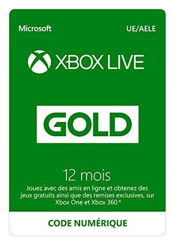 Abonnement Xbox Live Gold 12 mois | Xbox Live - Code jeu à télécharg