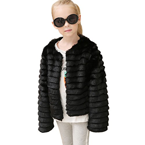 Modaworld Baby Mädchen Faux Pelz Weste Hirolan Kinder Herbst Winter Dick Mantel Warm Outwear Mode Ärmellos Weste Prinzessin Party Sweatjacke Kleider 3-10Jahre alt Oberbekleidung