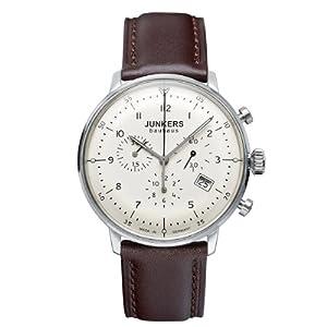 Reloj Junkers 6086-5 automático para hombre con correa de piel, color marrón de Junkers