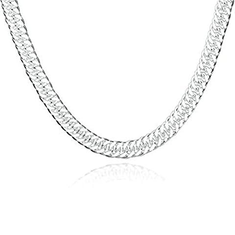 amdxd Jewelry Vergoldete Kette Halsketten für Männer Frauen Silber Knochen