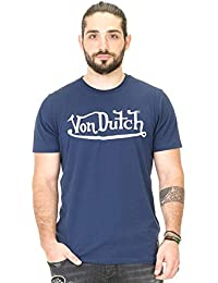 28f4827c217 Von Dutch Vondutch - T-Shirt Homme Best Bleu Imprimé Blanc