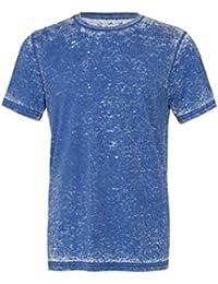 Unisexe poly-coton t-shirt manche courte (BE119) - Vrai Royal Délavé, 34-37 / Small