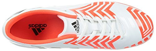 adidas Predito Instinct TF, Chaussures de football homme Blanc - Weiß (Ftwr White/Core Black/Solar Red)
