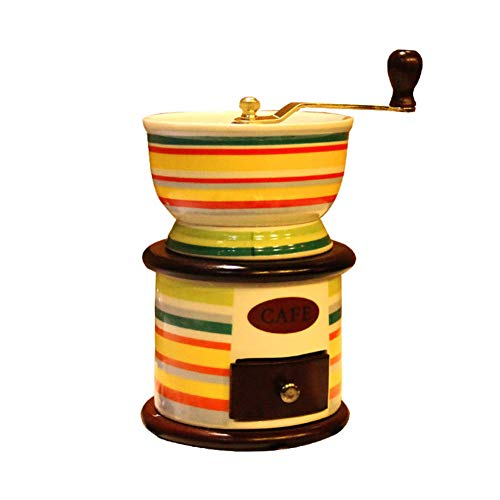 Tiners Manuelle Kaffeemühle Solide Kleine Holz Mini Kaffee Gerät Home Grinder Gusseisen Kern