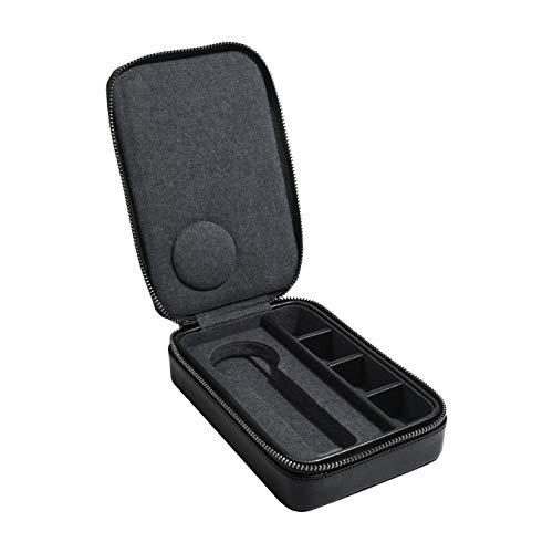 Stackers Herren-Uhrenbox mit Reißverschluss und Manschettenknöpfen, Schwarz
