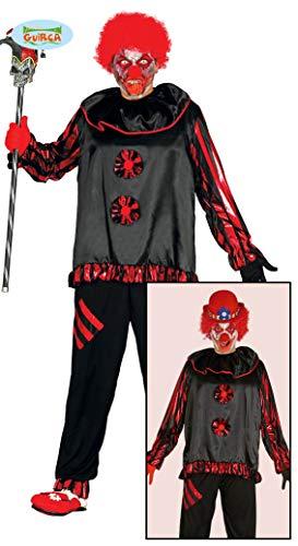 Zombie Clown Kostüm für Herren Gr. M/L, Größe:L