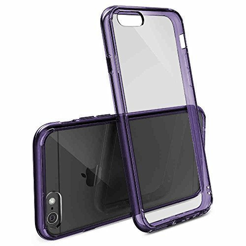 Ultra sottile TPU 14cm (5,5pollici) Slim Custodia in silicone per Apple iPhone 6Plus trasparente trasparente viola