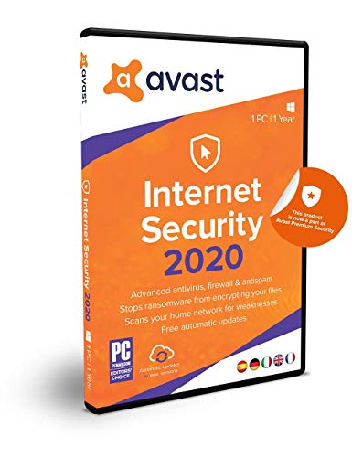 Avast Internet Security 2020 | 1 PC | 1 Jahr