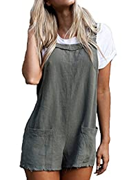 dbb4f3a1fdfc Mupoduvos Women Overalls Shorts Summer Casual Loose Playsuit with Pocket