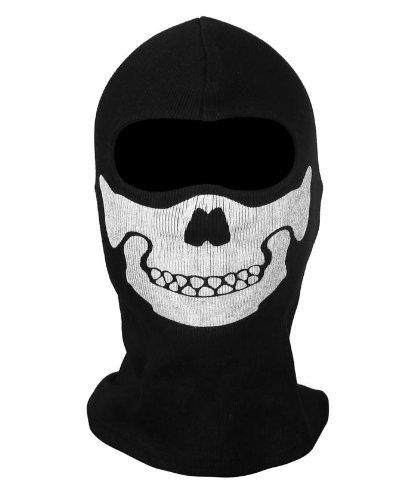 CoolChange pasamontañas negro con imagen del maxilar del cráneo