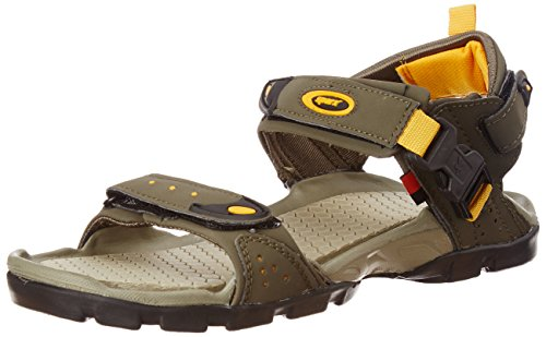 Sparx Men's Olive Green and Yellow Athletic and Outdoor Sandals - 9 UK/India (43 EU)(SS0502G)
