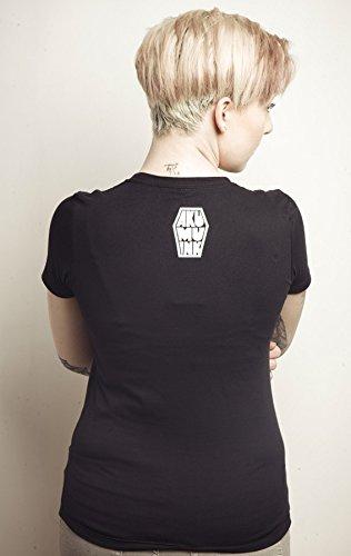 Akumu Ink Skull 13 T - Shirt Tattoo Comic Totenkopf Gothic - Girlie Schwarz