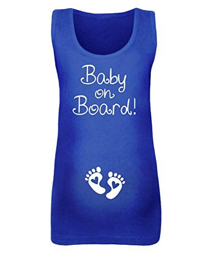 """Femme """"Baby On Board Maternité pour Femme–Disponible en différentes couleurs Bleu - Bleu marine"""