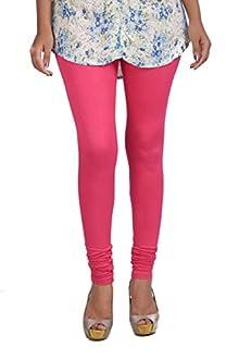 d2ff64e7e099f7 CLASSIC CULTURE Womens Lycra Churidar Leggings (Pink-Shine, Small)