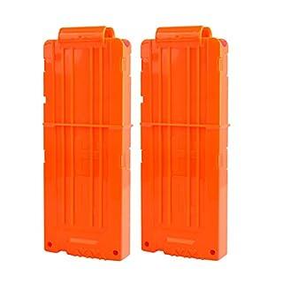 TXXCI Soft Bullet Clip Pistole Clip Reload Clip Magazine für 12 Darts Für Nerf N-Strike Elite Serie Spielzeuggewehre - Orange 2 Pcs