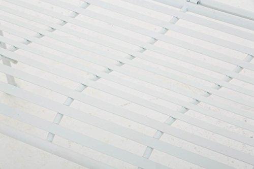 CLP Gartenbank ORKUN im Landhausstil, Eisen lackiert, 107 x 50 cm, 2er Sitzbank Weiß - 6