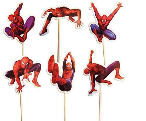 Spiderman-Kuchen-Toppers (Packung mit 24)