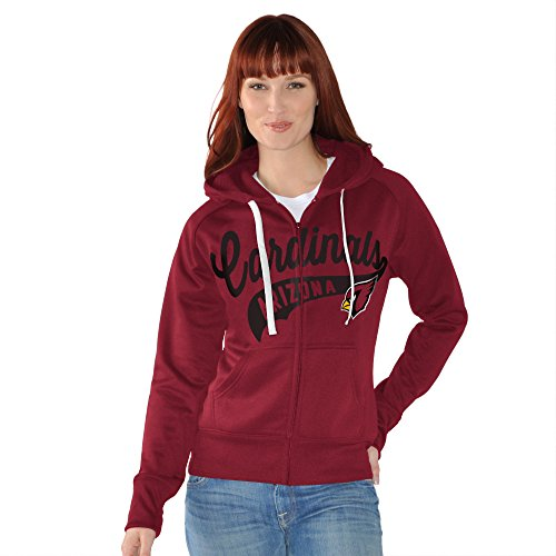 GIII For Her Game Day Full Zip Fleece Hoody, Damen, Scharlachrot
