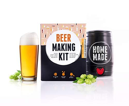 Kit para elaborar Cerveza Artesana Lager en Casa - Producto de Alemania - Disfruta tu cerveza en sólo 7 días - Brewbarrel - Regalos para Hombres